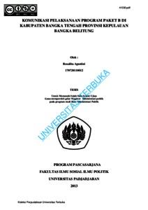 Komunikasi Pelaksanaan Program Paket B Di Kabupaten Bangka Tengah Provinsi Kepulauan Bangka Belitung Universitas Terbuka Repository